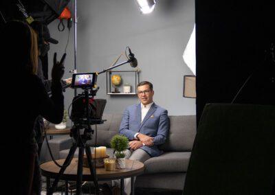 filming live in studio